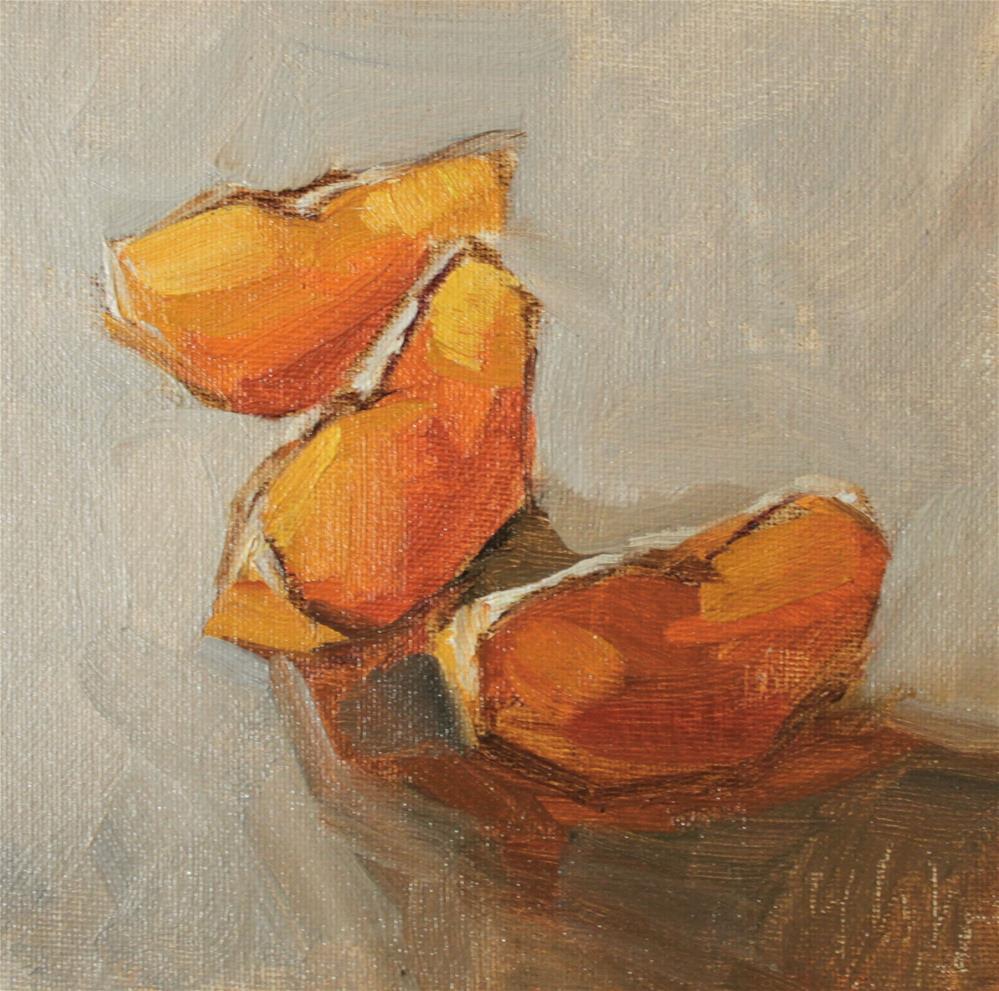 """""""three pieces oranges"""" original fine art by Yuehua He"""