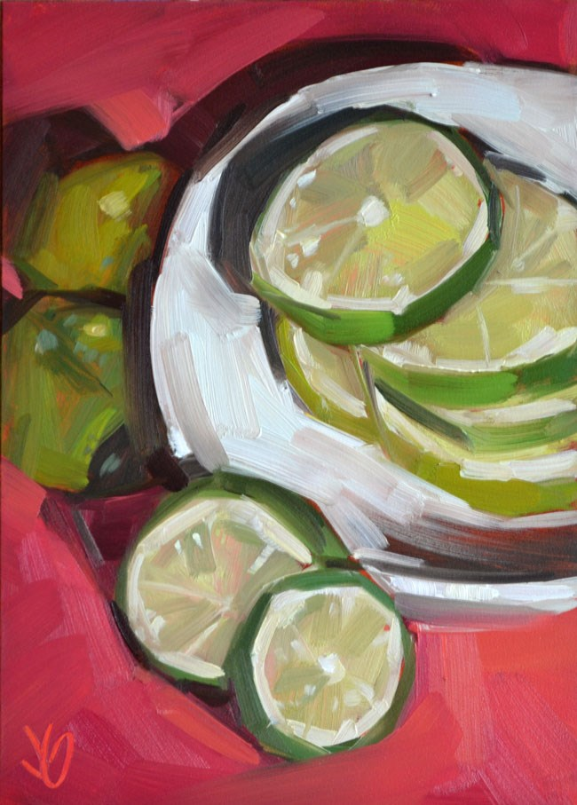 """""""Lime Stack"""" original fine art by Jessica Green"""
