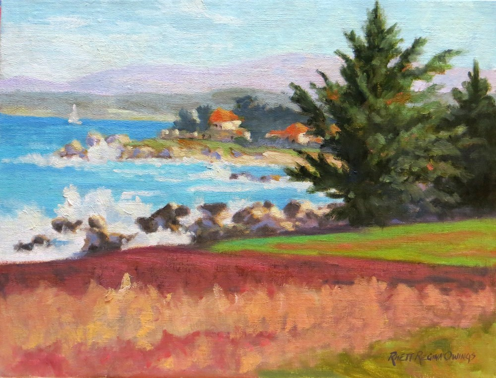 """A Day By the Bay"" original fine art by Rhett Regina Owings"