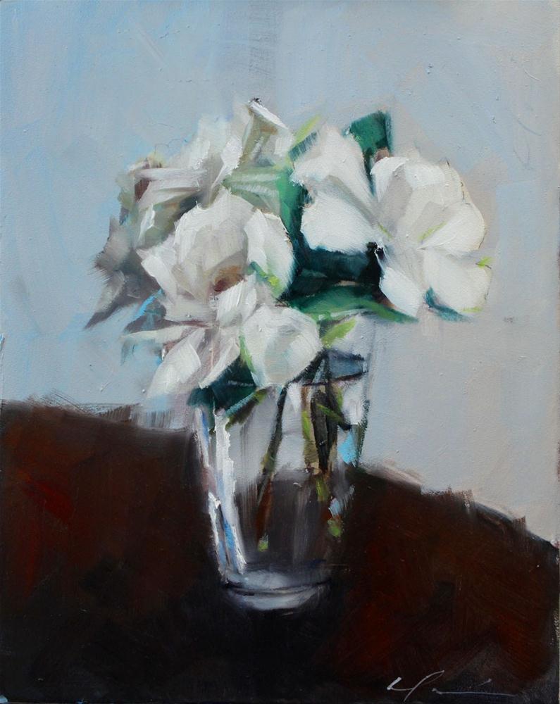 """First Gardenias"" original fine art by Clair Hartmann"
