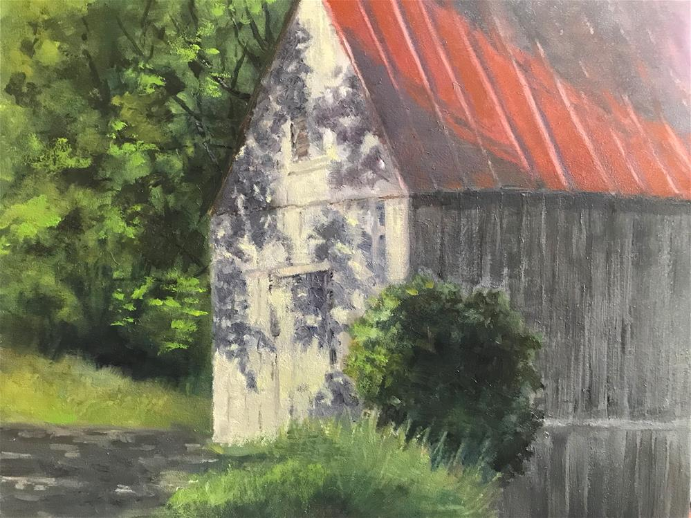 """tree shadow on the barn"" original fine art by Betty Argiros"