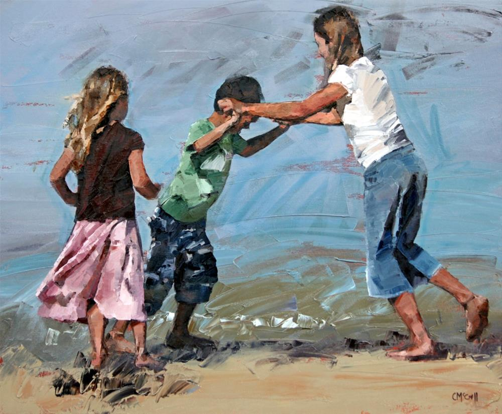 """""""Playfight"""" original fine art by Claire McCall"""
