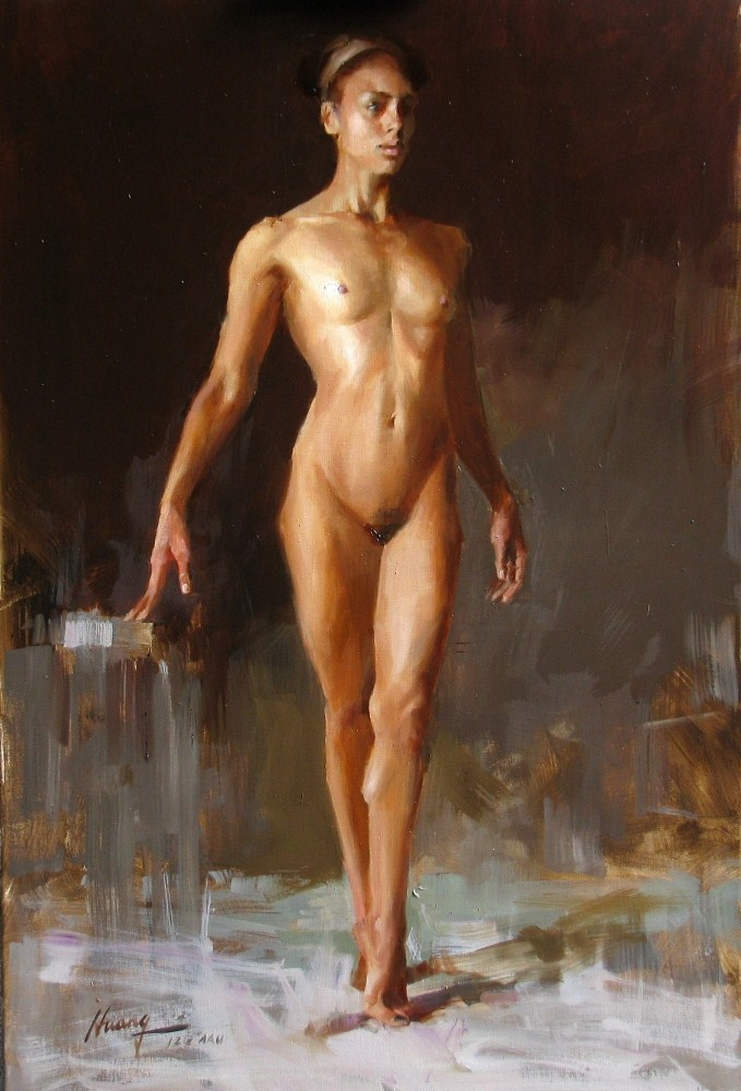 """AAU Figure Painting Homework 1 (Day 5)"" original fine art by Qiang Huang"