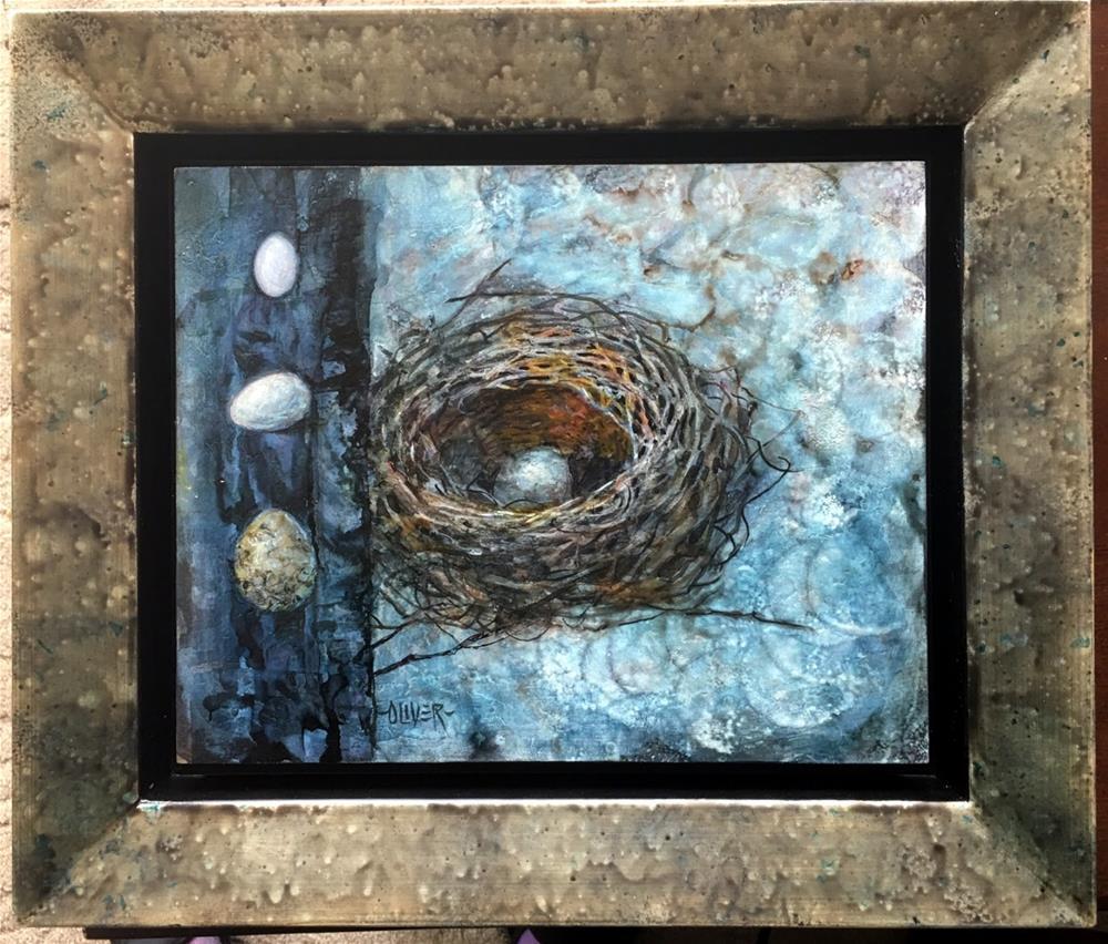 """""""Egg Dreams - Alcohol Ink"""" original fine art by Julie Ford Oliver"""