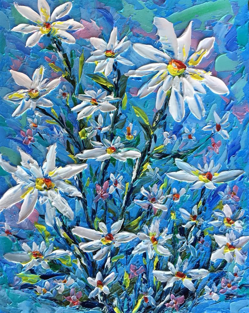 """Daisy Crazy 2"" original fine art by Ken Fraser"