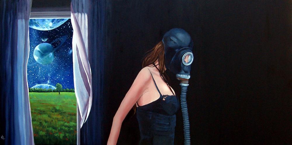"""""""Art for the Apocalypse show"""" original fine art by Ria Hills"""