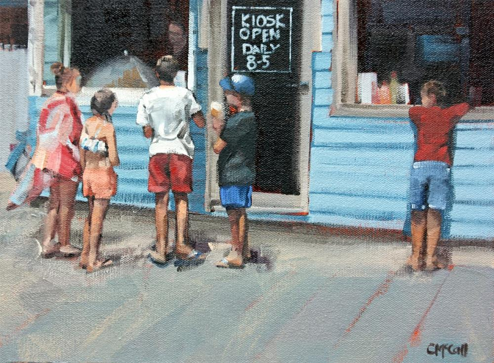 """Beach Kiosk"" original fine art by Claire McCall"