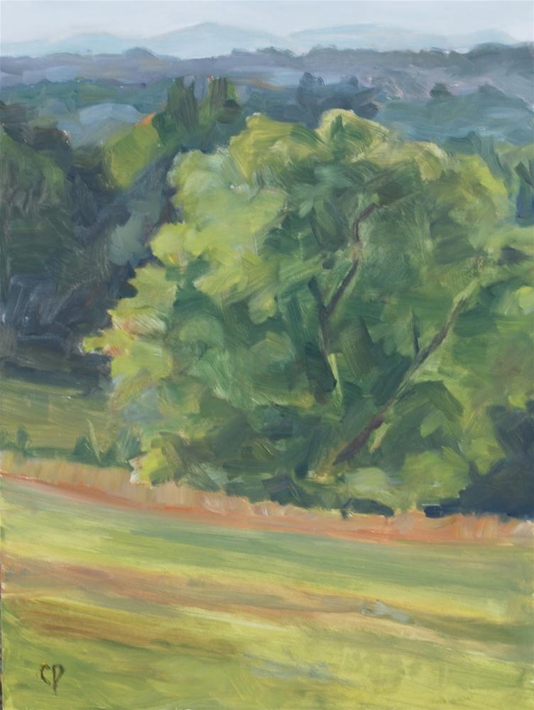 """On the Hill"" original fine art by Carol DeMumbrum"