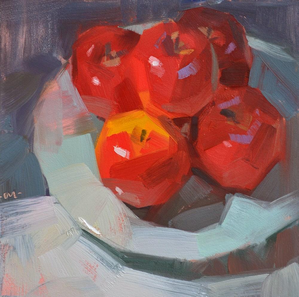 """Apple Pile"" original fine art by Carol Marine"