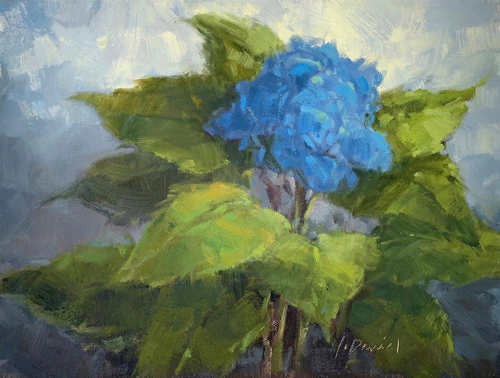 """""""Hydrangea in Blue - Fix It Friday #18"""" original fine art by Laurel Daniel"""
