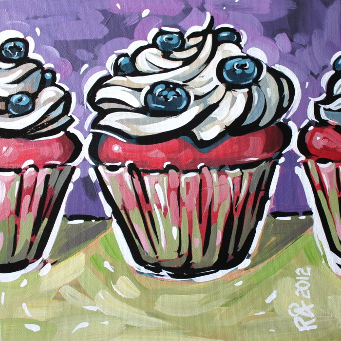 """Cupcake 10"" original fine art by Roger Akesson"