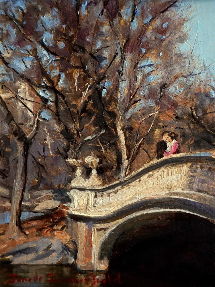 """""""A Kiss on Bow Bridge"""" original fine art by Jonelle Summerfield"""