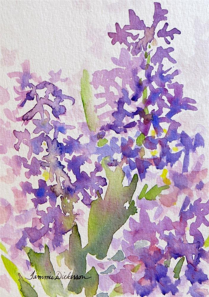 """Hyacinth Hues"" original fine art by Tammie Dickerson"