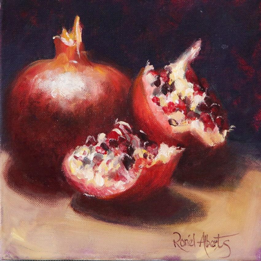 """pomagranites"" original fine art by Ronel Alberts"