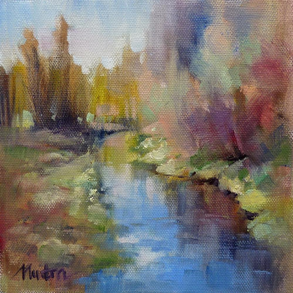 """Holiday Creek SUPER SUMMER SALE"" original fine art by Barbara Benedetti Newton"