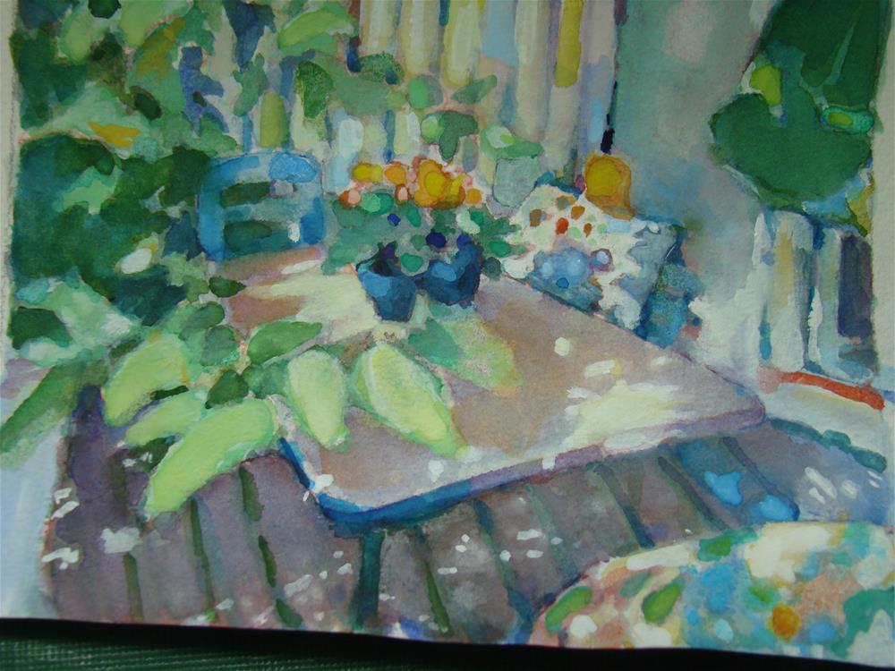 """""""susan's porch"""" original fine art by meribeth coyne"""