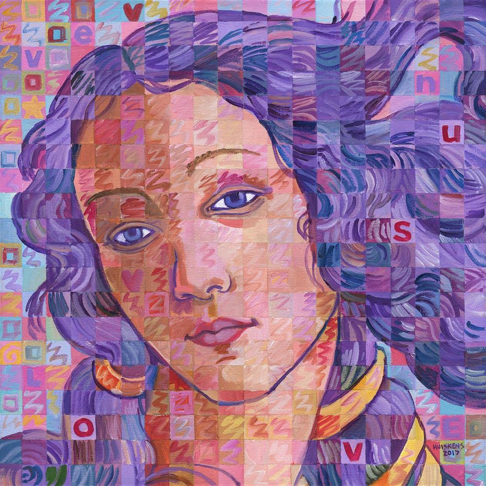 """""""Variations On Botticelli's Venus – No. 2"""" original fine art by Randal Huiskens"""