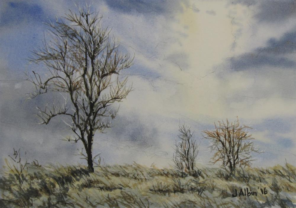 """Morning Frost in Iowa"" original fine art by Jane Albin"