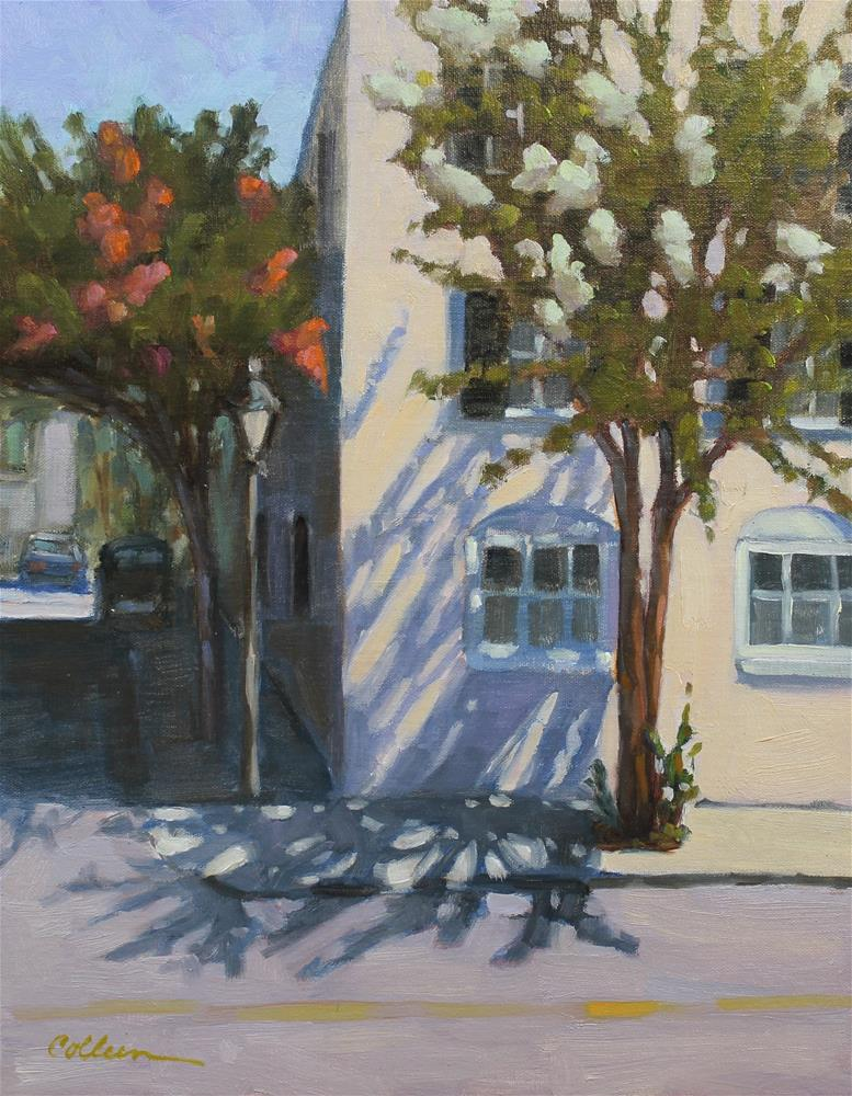 """Shadows on the Corner"" original fine art by Colleen Parker"