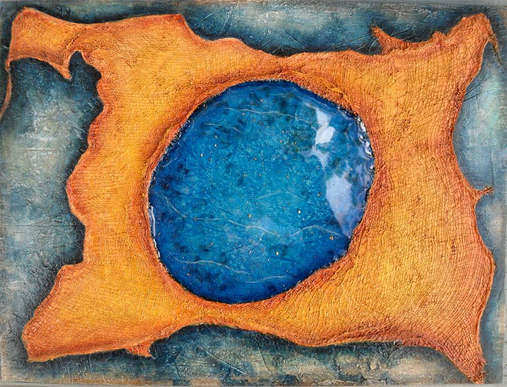 """Island of Lapis"" original fine art by Karen Roncari"