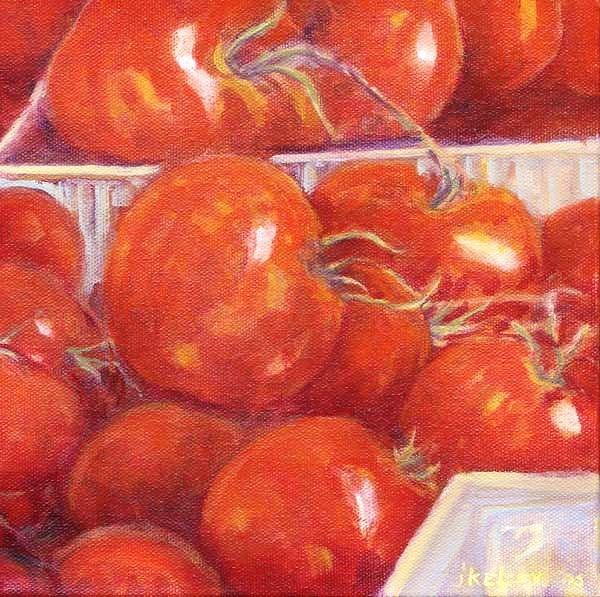 """Tomatoes"" original fine art by J Kelsey"