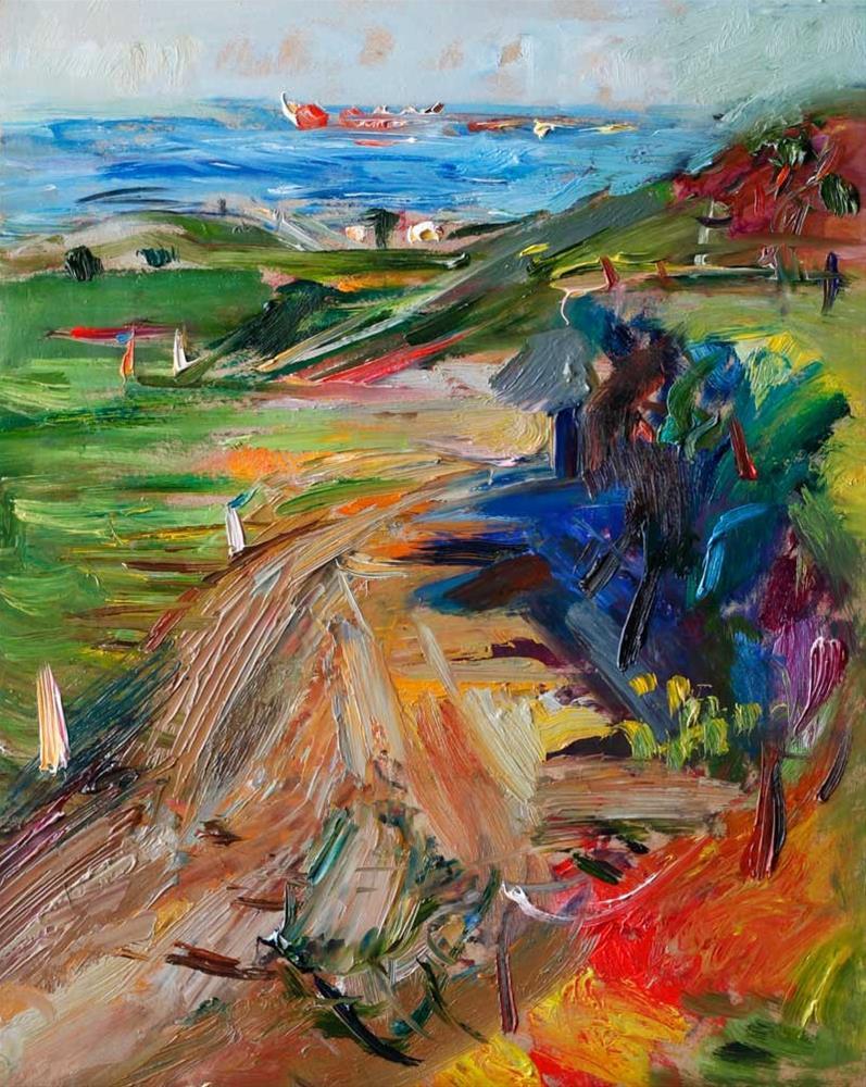 """Country Road to the Sea"" original fine art by Anna Fine Art"