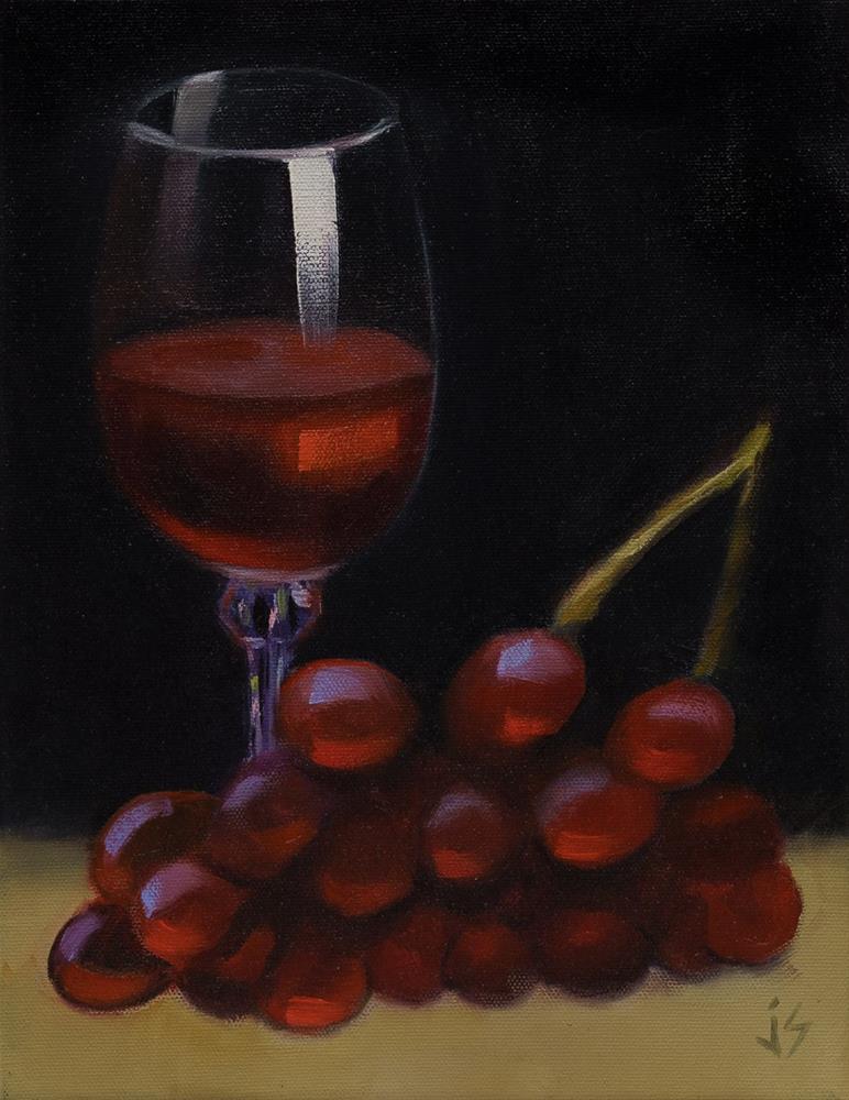 """Luscious Reds (Framed)"" original fine art by Johnna Schelling"