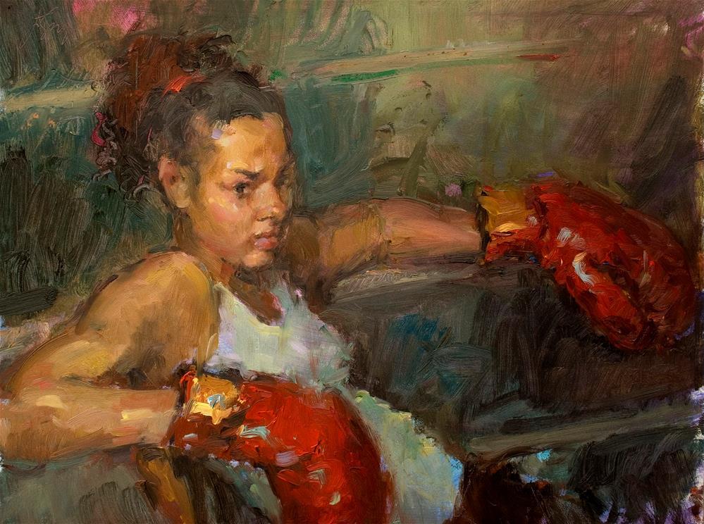 """Between Bouts"" original fine art by Julie Snyder"