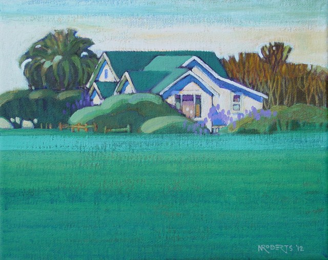 """""""White House on Sellers"""" original fine art by Nancy Roberts"""
