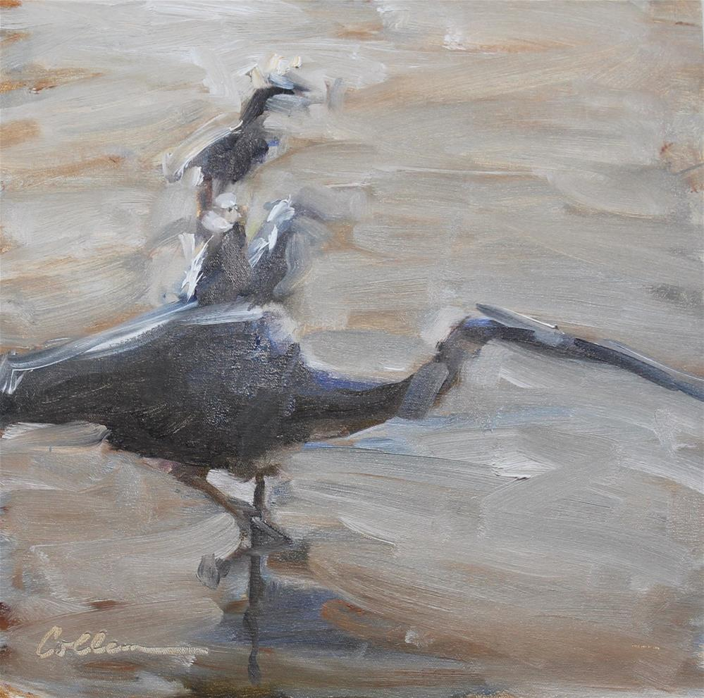 """Egret Gesture"" original fine art by Colleen Parker"