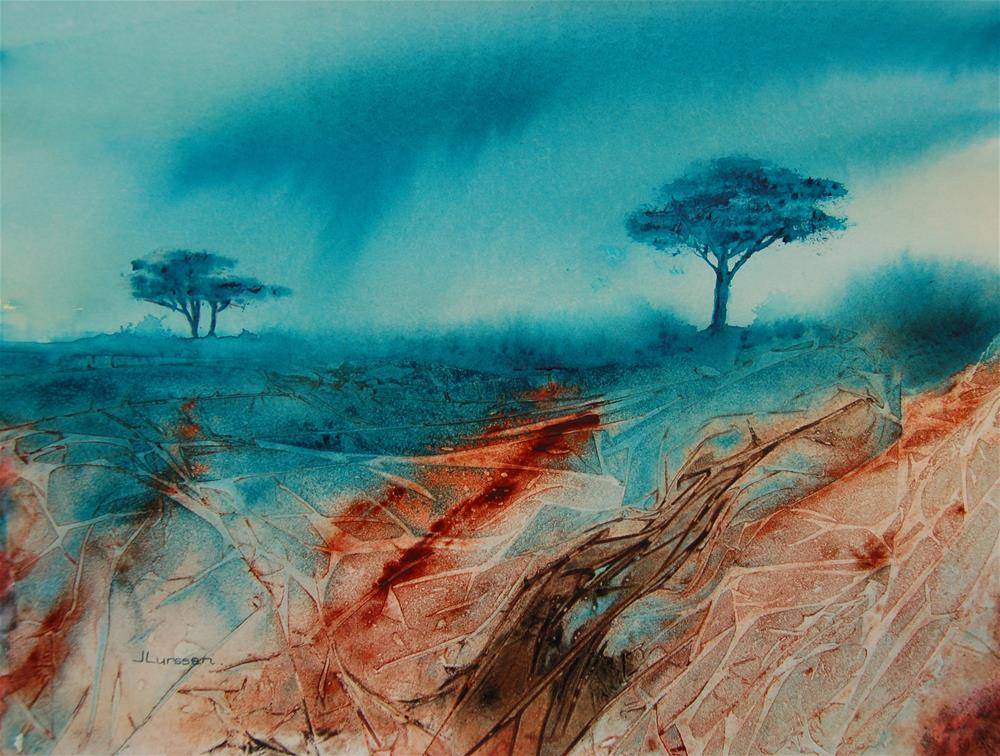 """Aqua Vision"" original fine art by Jean Lurssen"