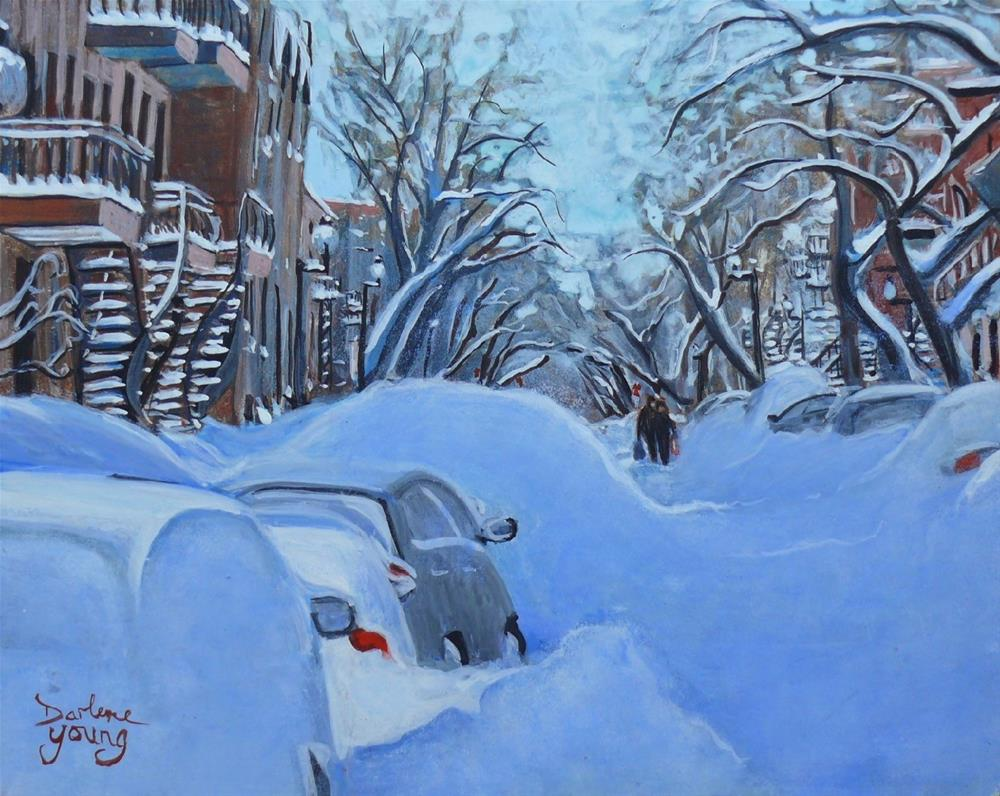 """1159 Le Plateau Mont Royal"" original fine art by Darlene Young"