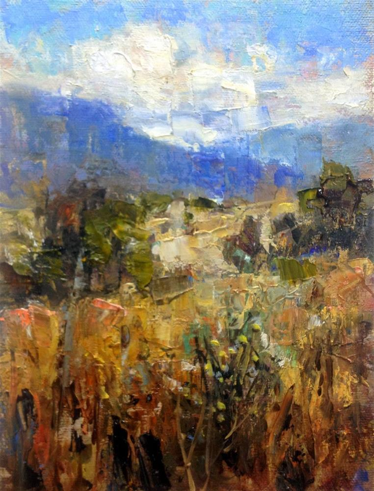 """""""Blue Mountains - Southern Colorado"""" original fine art by Julie Ford Oliver"""