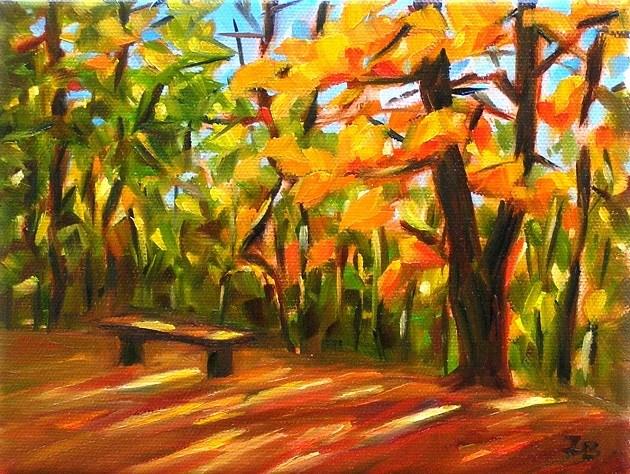 """October Light"" original fine art by Irina Beskina"