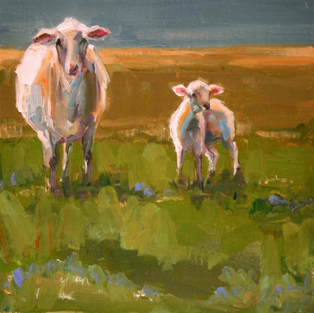 """two ewe"" original fine art by Carol Carmichael"