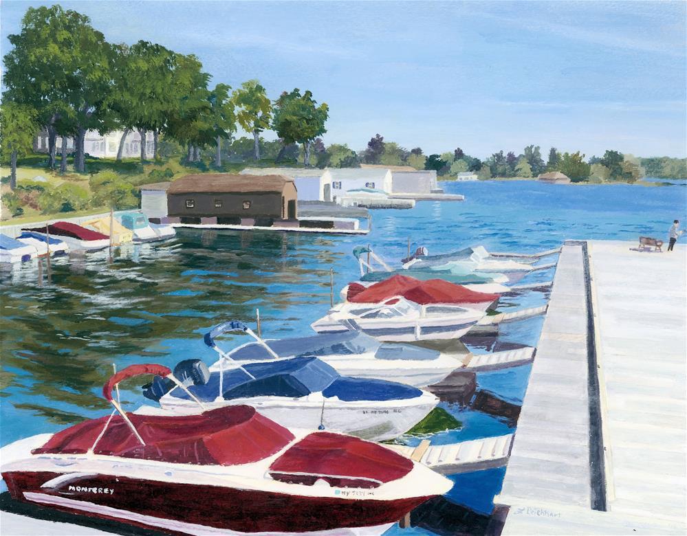 """T.I. Park Marina"" original fine art by Lynne Reichhart"