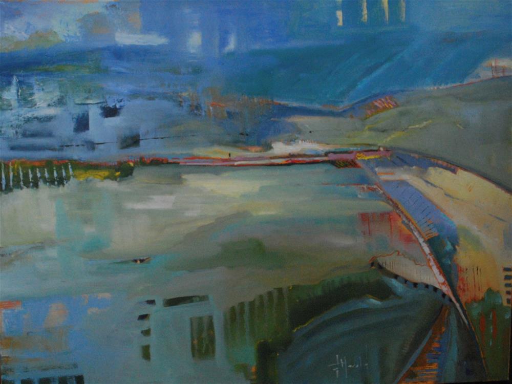 """Abstract Landscape"" original fine art by Deborah Harold"