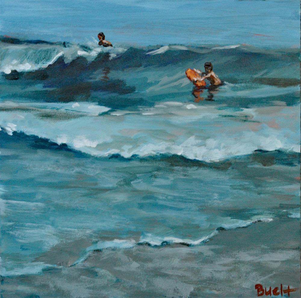 """Catching Waves"" original fine art by Shari Buelt"