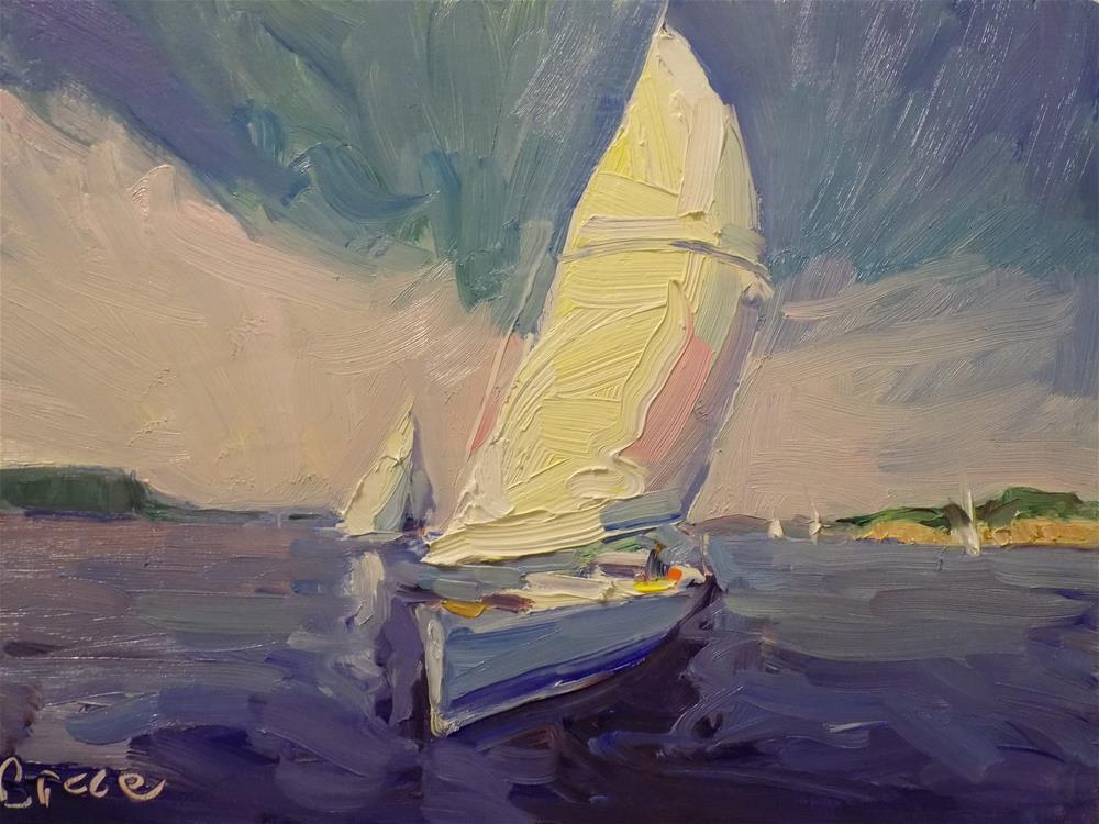 """Beautiful Color Sailing"" original fine art by Rita Brace"
