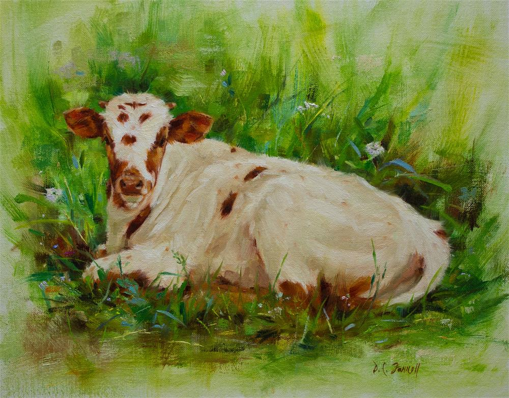 """Blossom"" original fine art by Donna C Farrell"