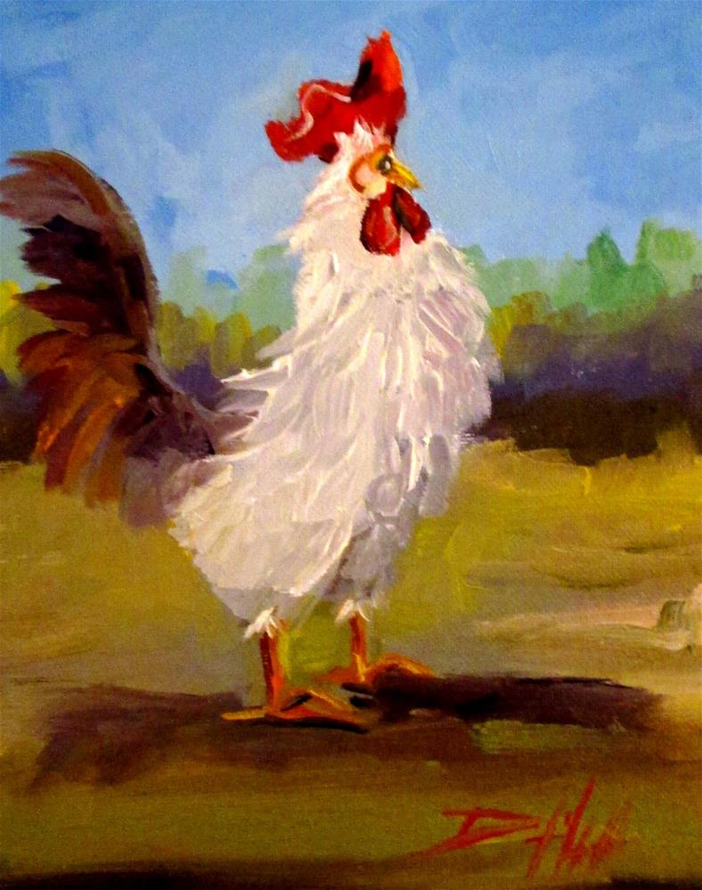 """Rooster No. 47"" original fine art by Delilah Smith"