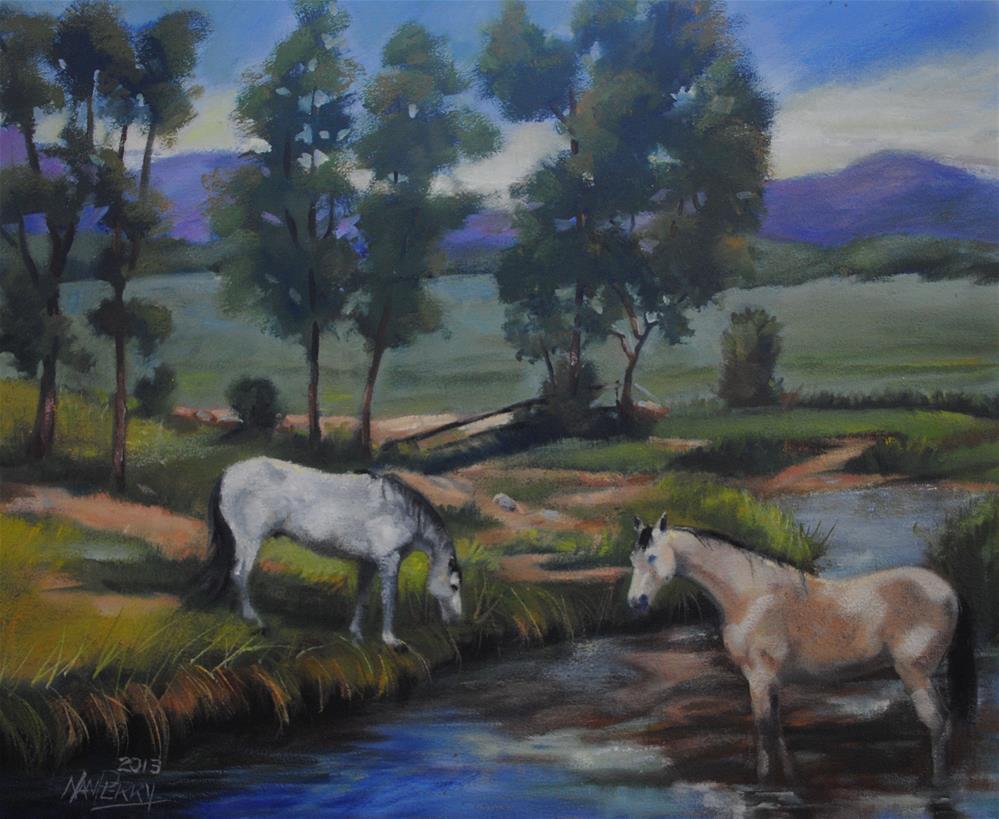 """Still Waters"" original fine art by Nan Perry"