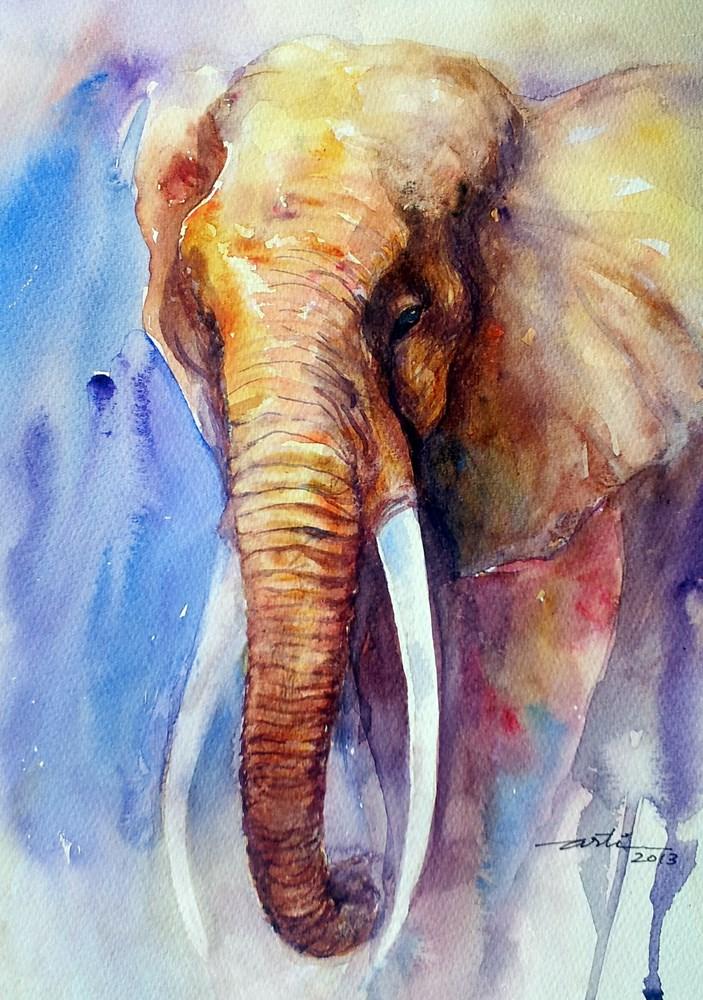 """Majestic"" original fine art by Arti Chauhan"
