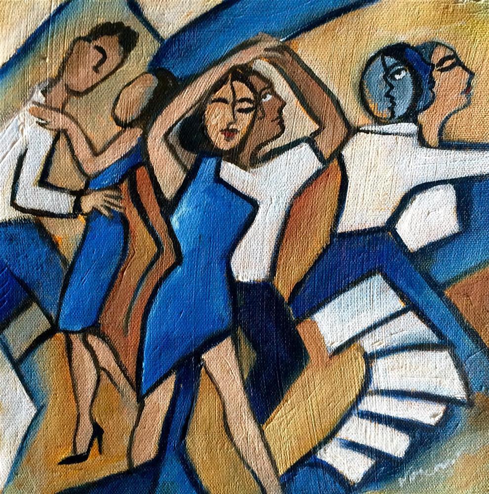 """Le Danse Bleu"" original fine art by Valerie Vescovi"