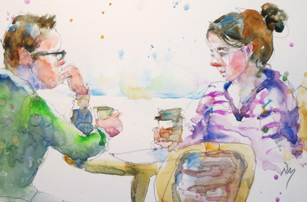 """quiet moment"" original fine art by Nora MacPhail"