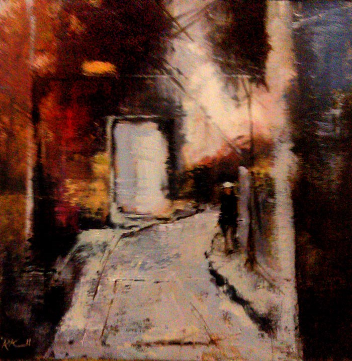 """The White Door in the Alley"" original fine art by Bob Kimball"