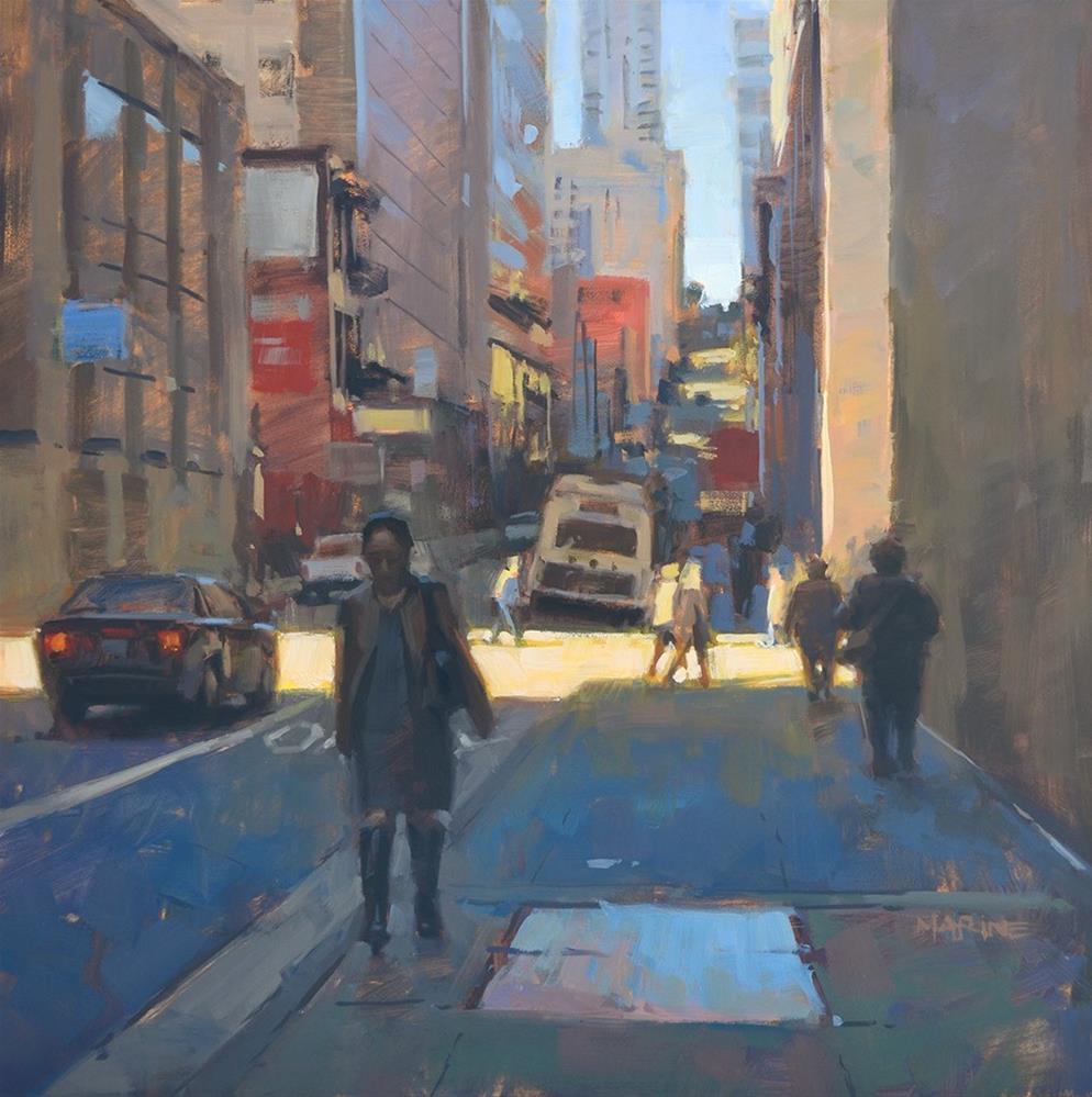 """Spring in the City"" original fine art by Carol Marine"