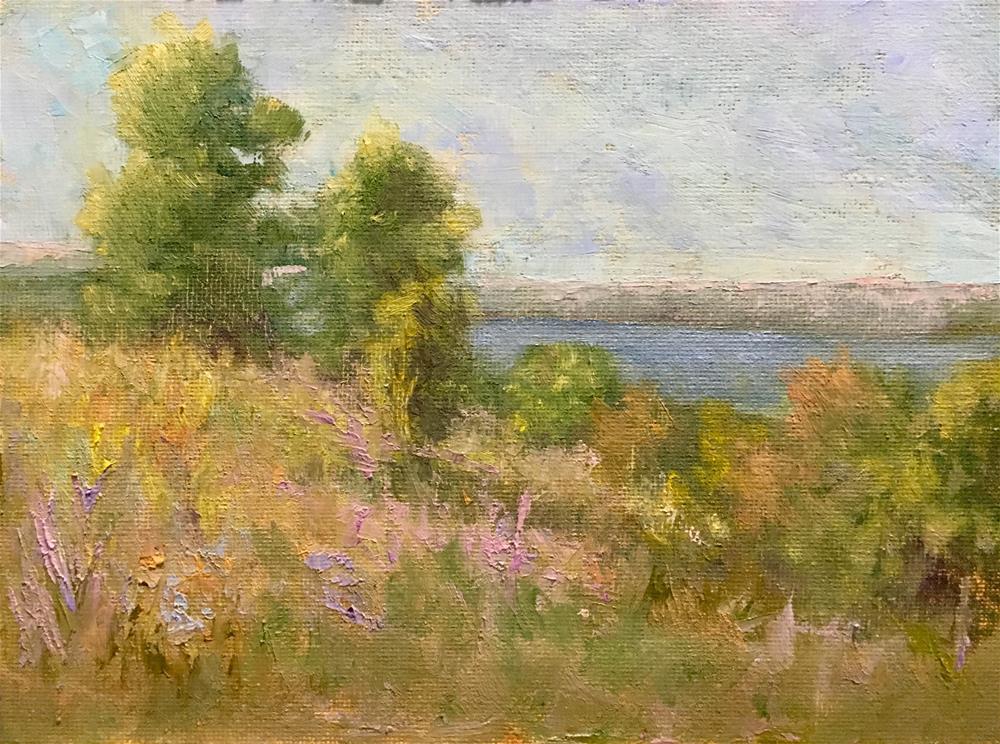 """""""River valley"""" original fine art by Judith Anderson"""