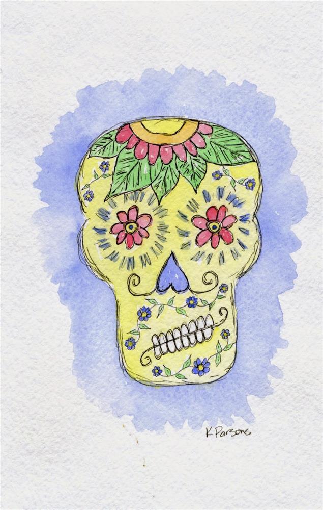 """Crooked Smile"" original fine art by Kali Parsons"