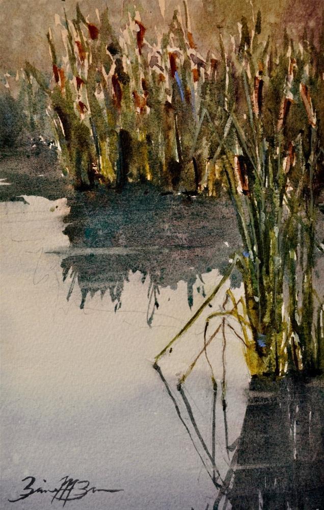 """""""Reeds"""" original fine art by Brienne M Brown"""